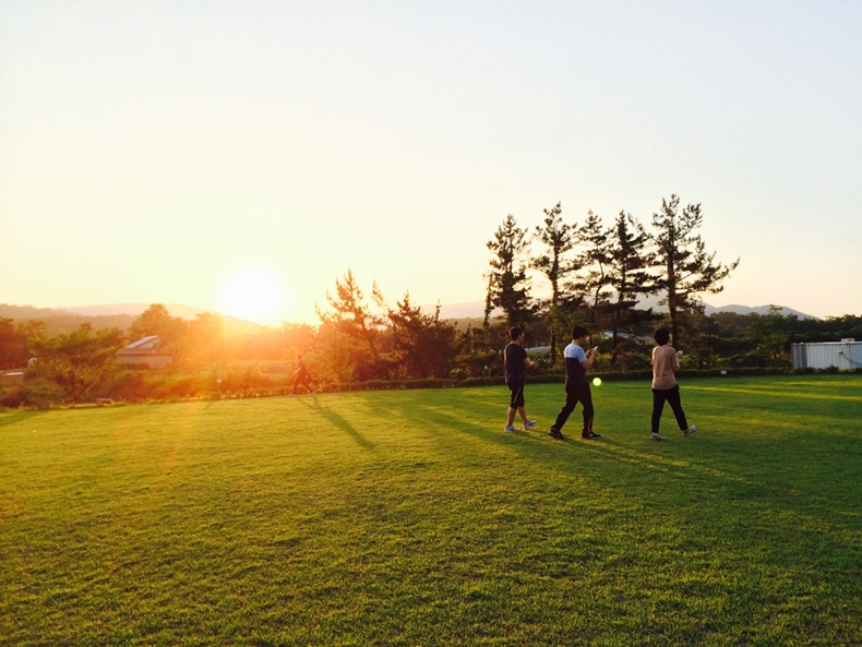 논산 메인센터 잔디밭 전경