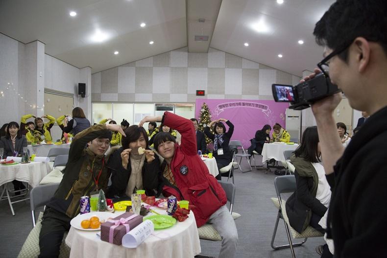두산중공업 가족명상캠프 가족 사진